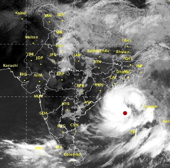 Western disturbance brings rain to north India, Cyclone Mora for the east