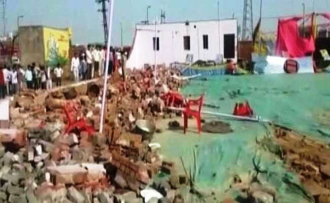 rajasthan wall collapse