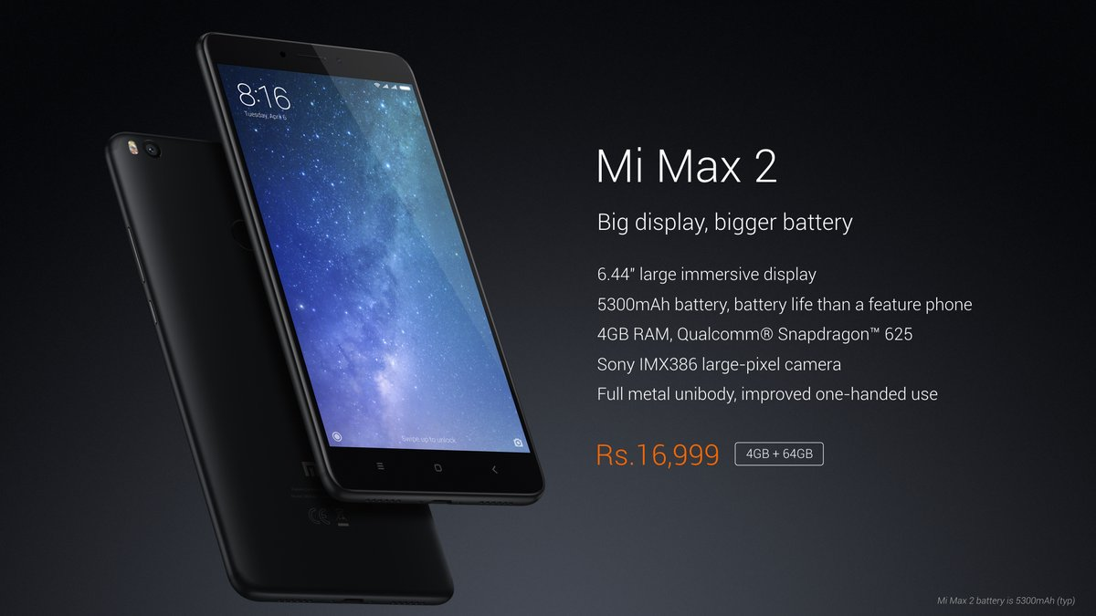 Xiaomi Mi Max 2 set to launch in India today