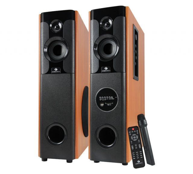 Zebronics Wooden Tower Speakers At Rs 15 999