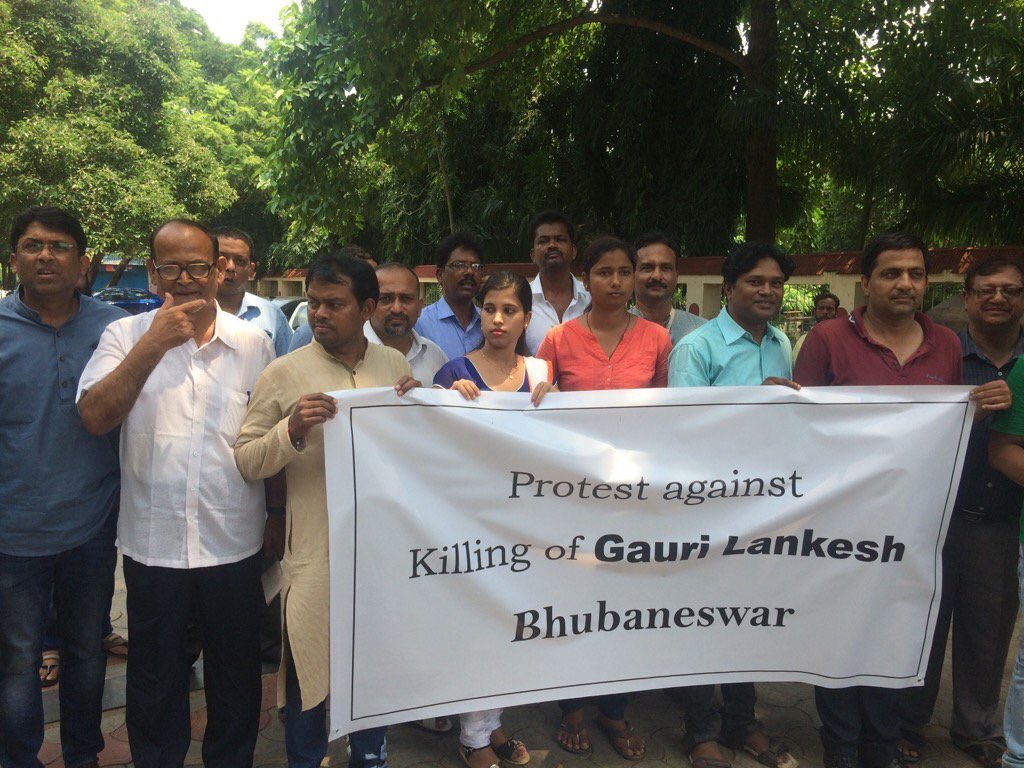 Journalists condemn killing of Gauri Lankesh