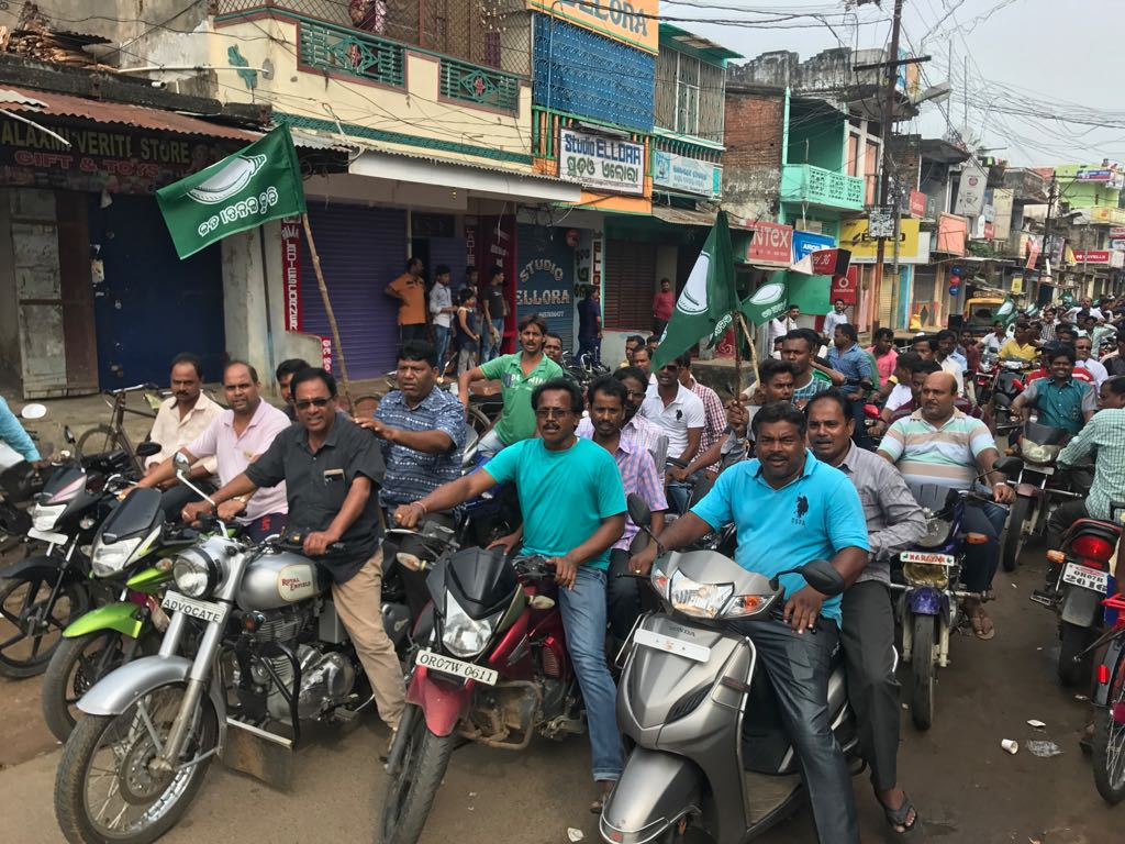 BJD Observes 5-hour Strike over Fuel Price Hike in Odisha