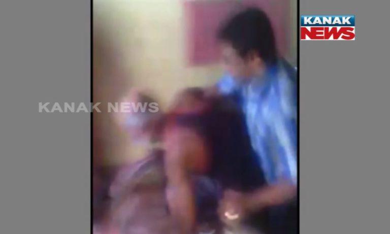 Man thrashes father