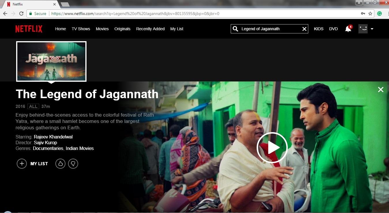 netflix now has a documentary on odisha's iconic ratha jatra in its