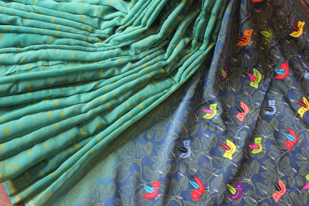 Birds Pipli sari