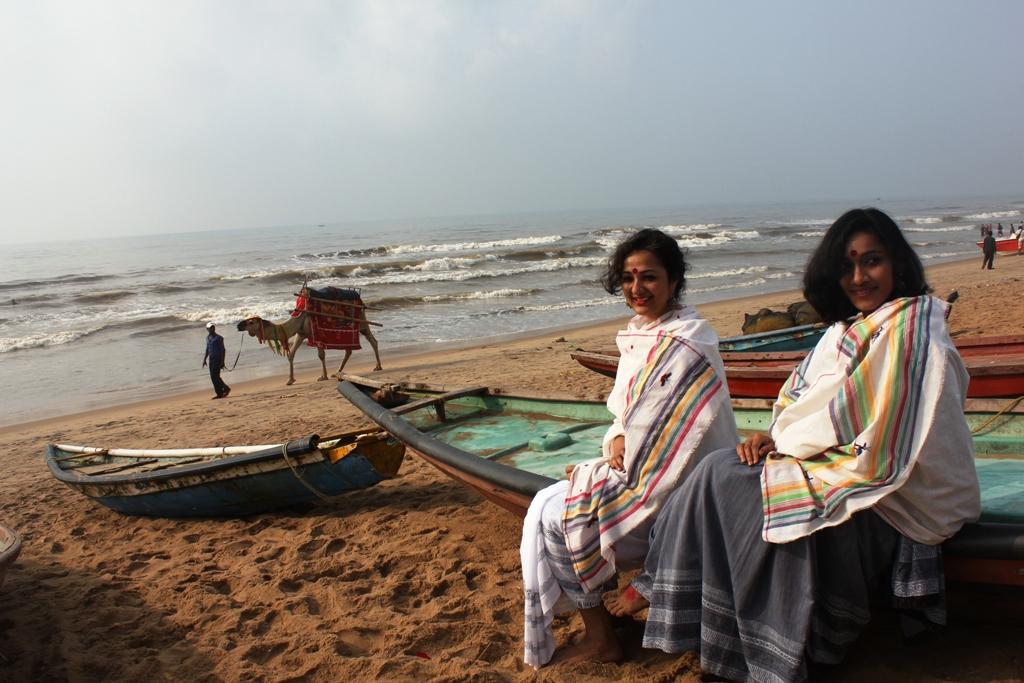 Gamcha shoot on Puri Beach