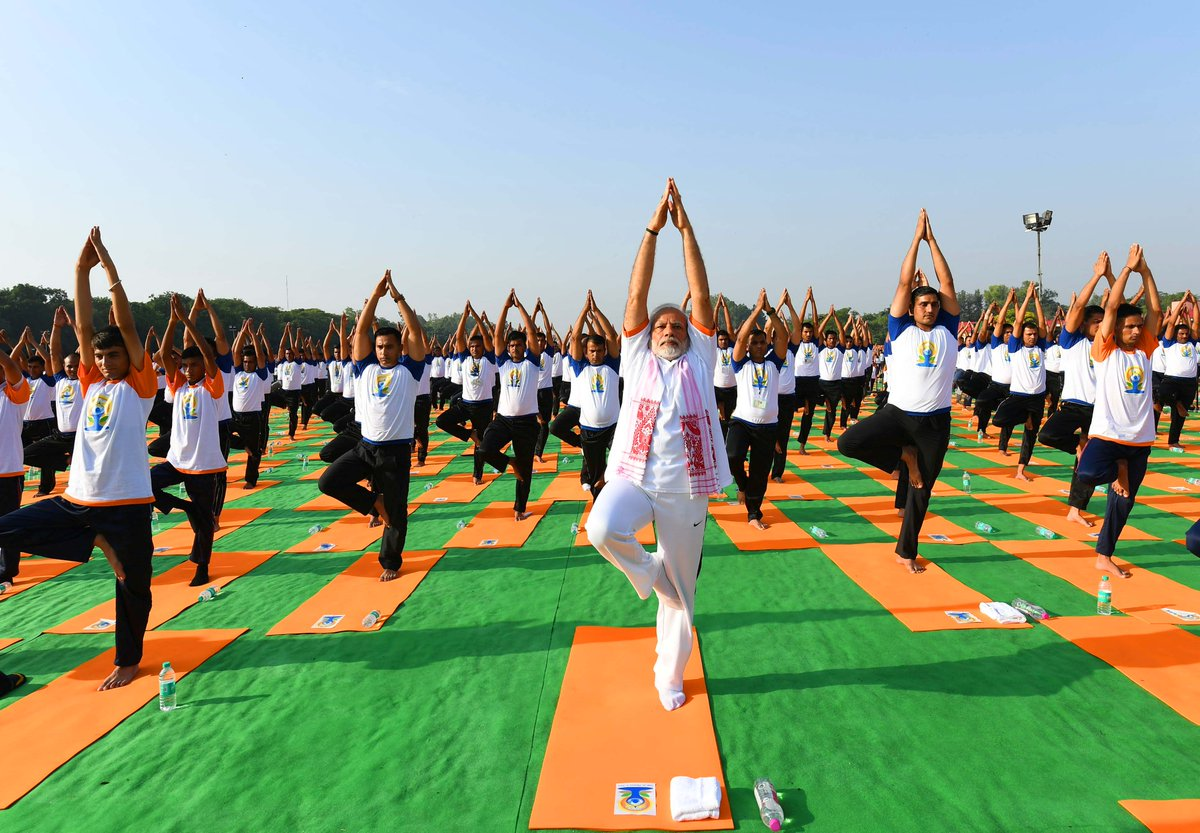 PM said world embraced Yoga & Glimpses be seen every year