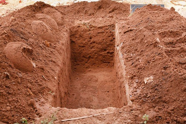 burying