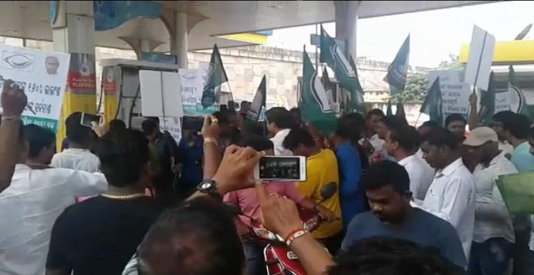 BJD-protest