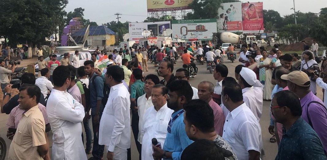 congress bandh odisha1