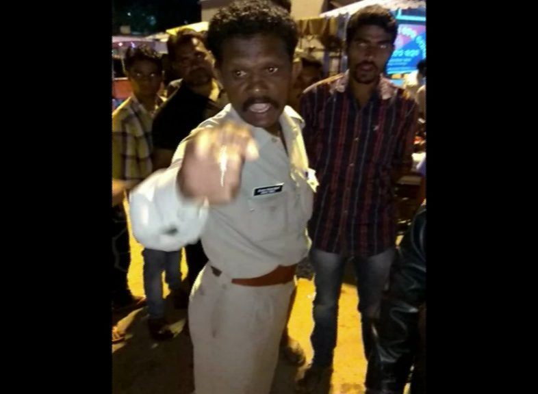 police misbehaves with woman