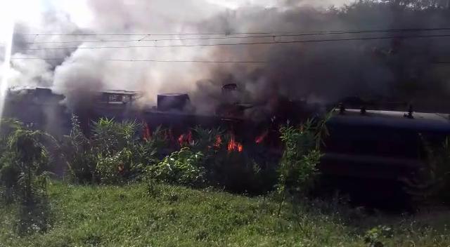 Samaleswari Express train fire