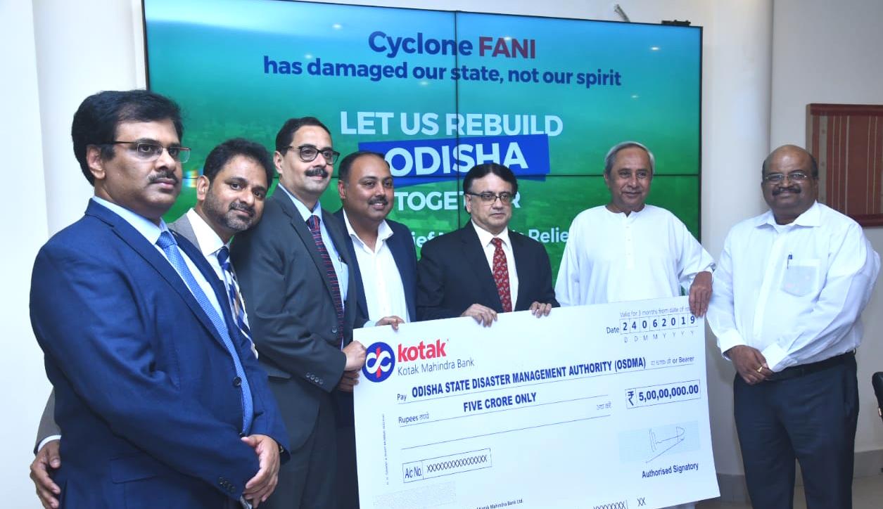 Kotak-Contribution to Odisha Govt.