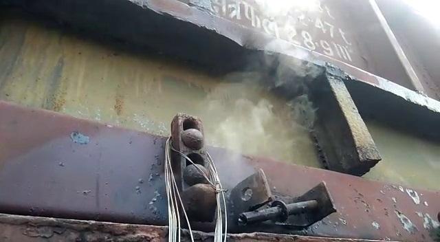 goods train fire