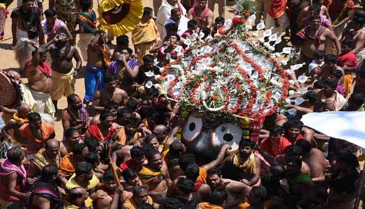 Lord Jagannath in pahandi