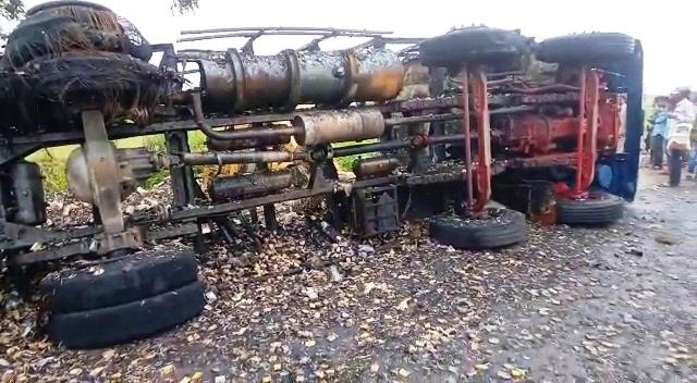 bhadrak truck fire