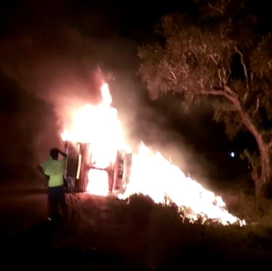 bhadrak truck fire1