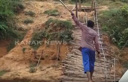 rayagada hanging wooden bridge
