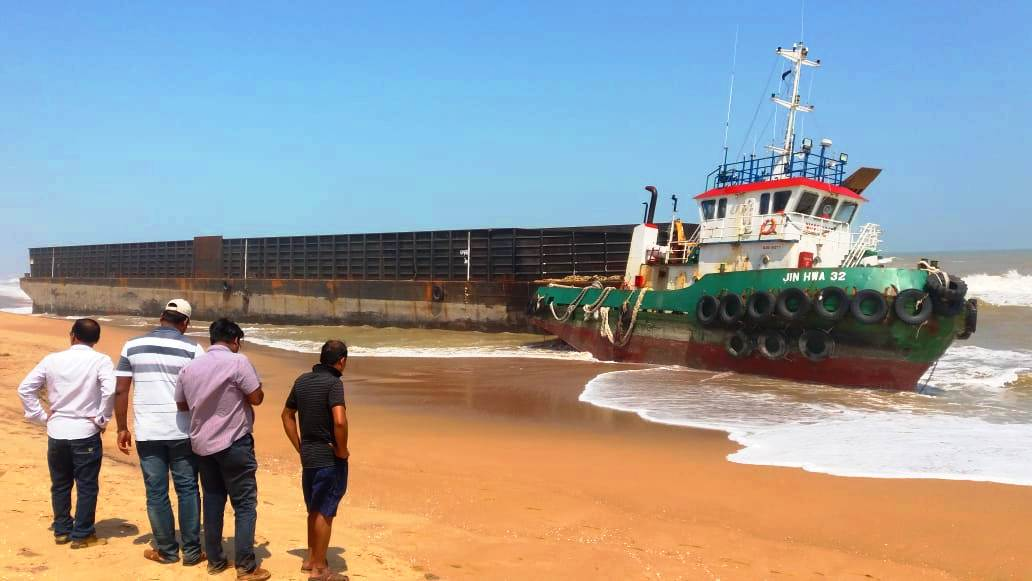 Cargo ship at Chilika