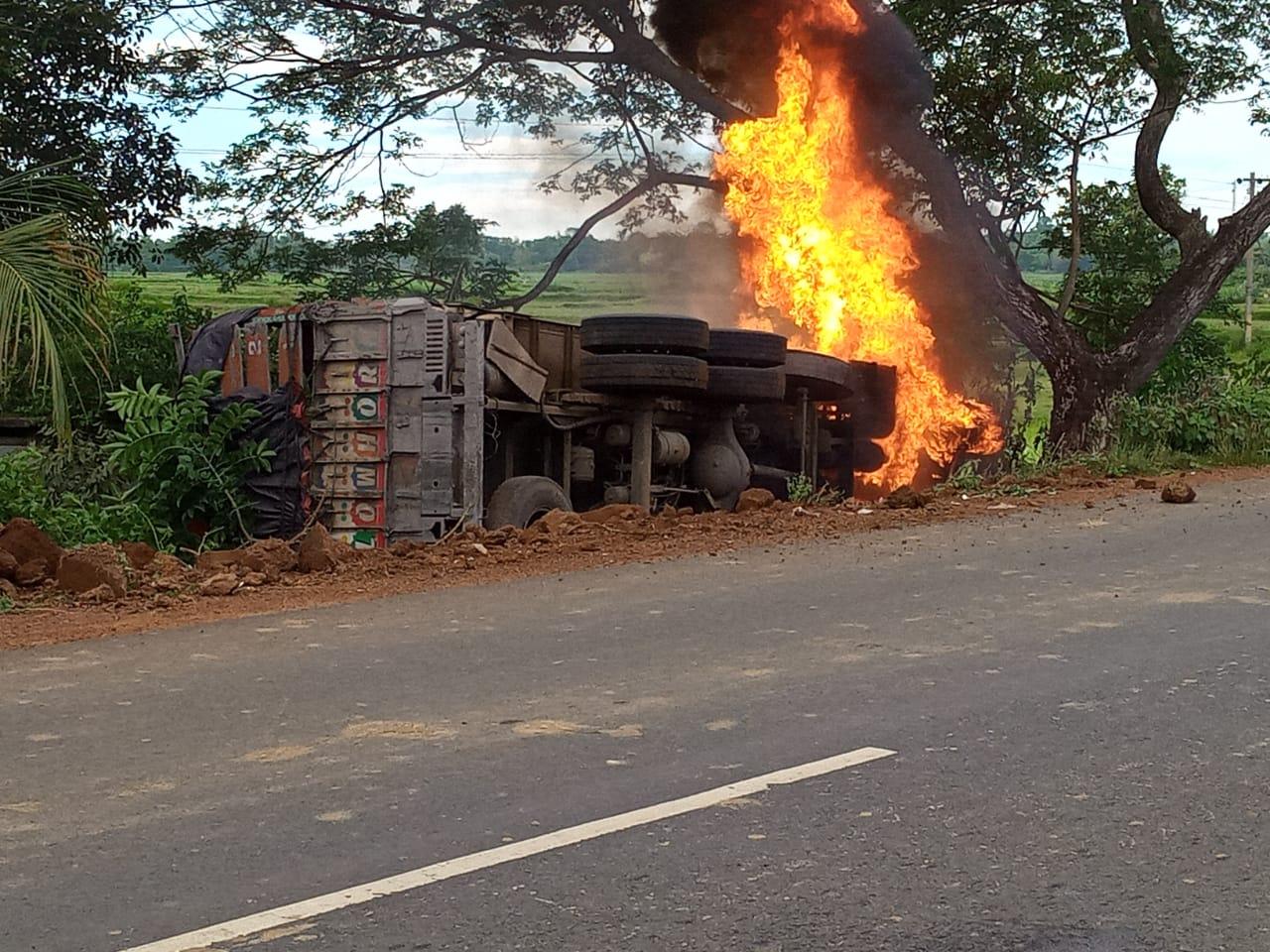mayurbhanj truck fire
