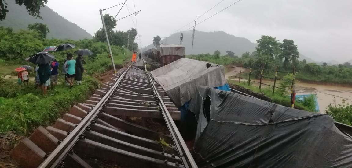 railway track washed away