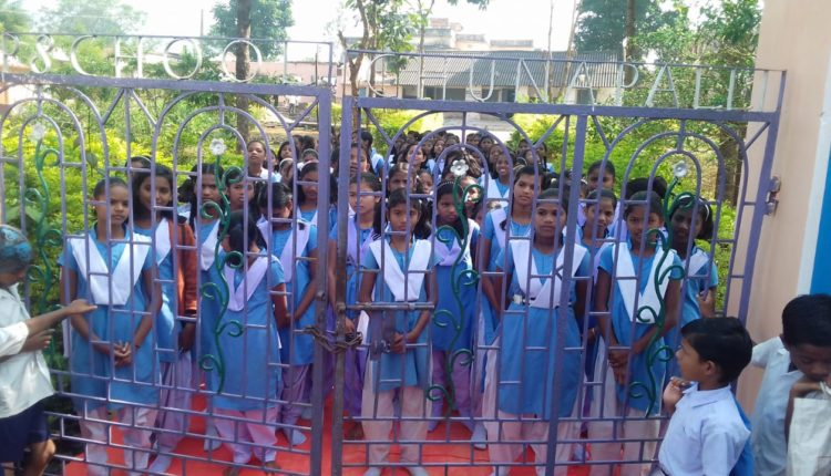 students lock up gate kandhamal