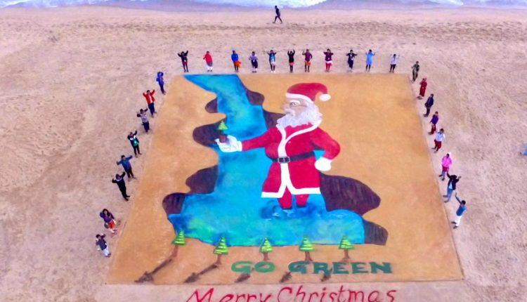 sand art-christmas