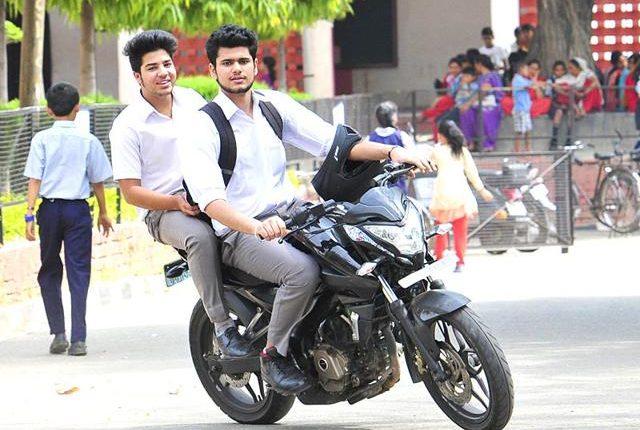 student bikers