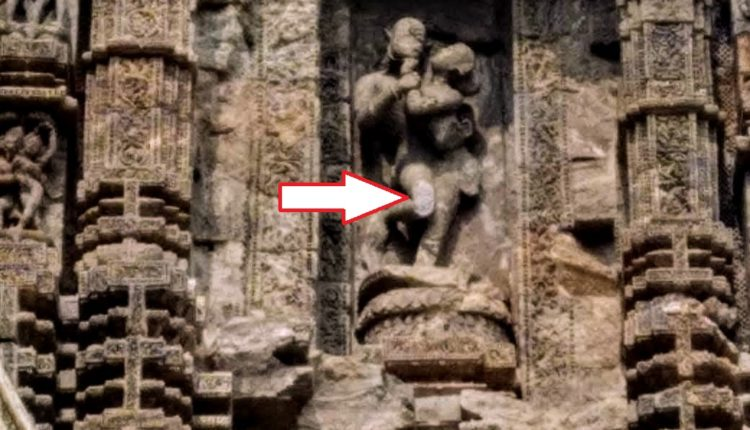 damaged idol at konark