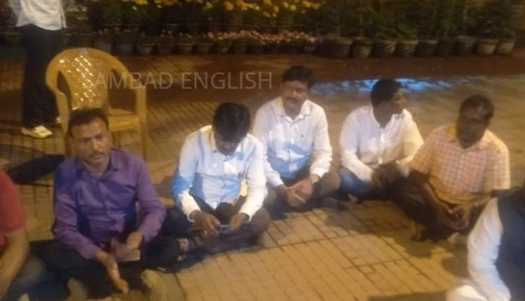 dharna by MLA