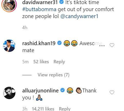 allu arjun thanking him