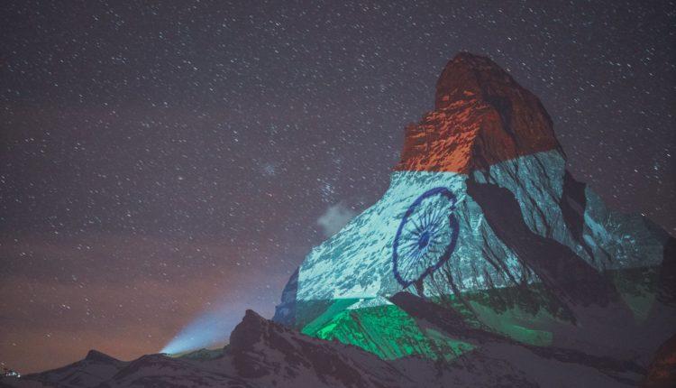 indian flag in switzerland