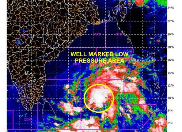 well marked low pressure