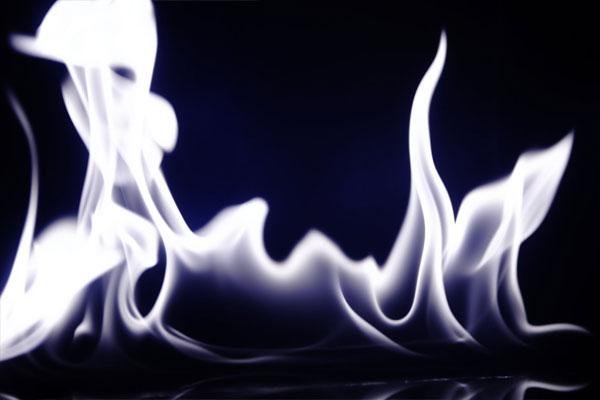 white-flames