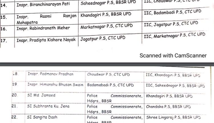 Commissionerate Police_reshuffle 2