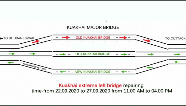 traffic diversion on Kuakhai bridge
