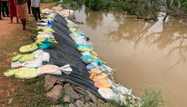 restoration work flood hit area