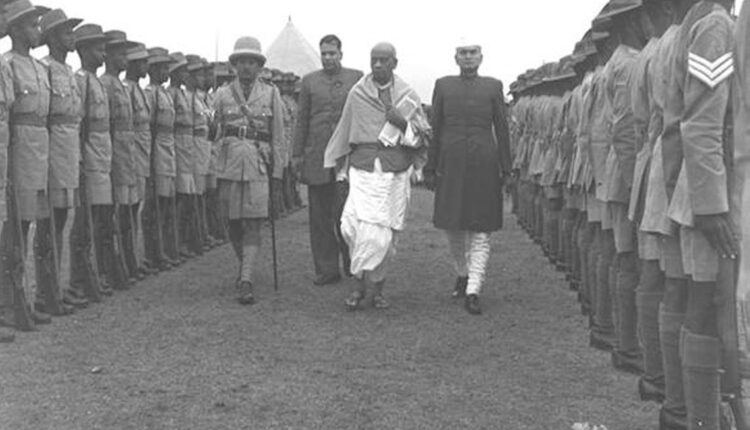 Patel given guard of honour