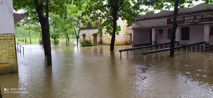 heavy rain in Ganjam village_flood