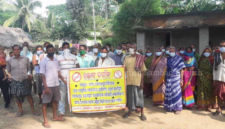 villagers boycott by-poll