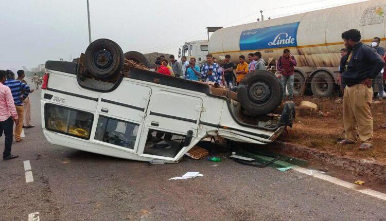 Police van accident