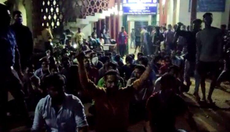 students protest_utkal university