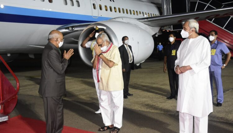 President Kovind at airport