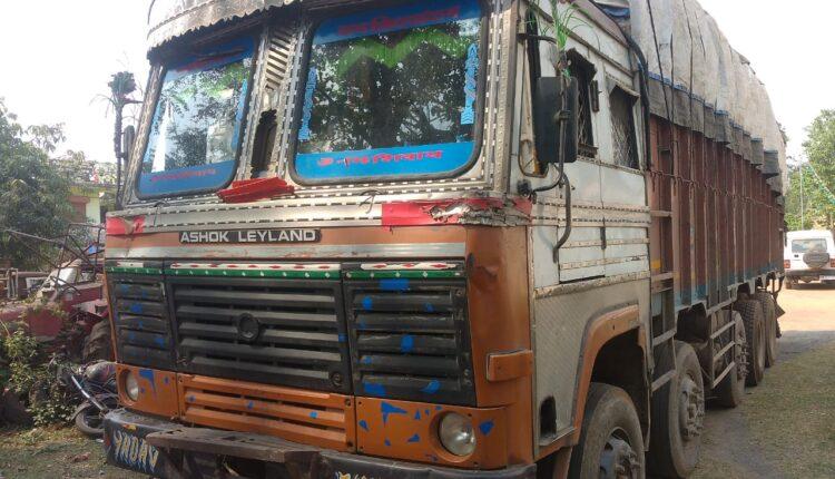 pan masala laden truck