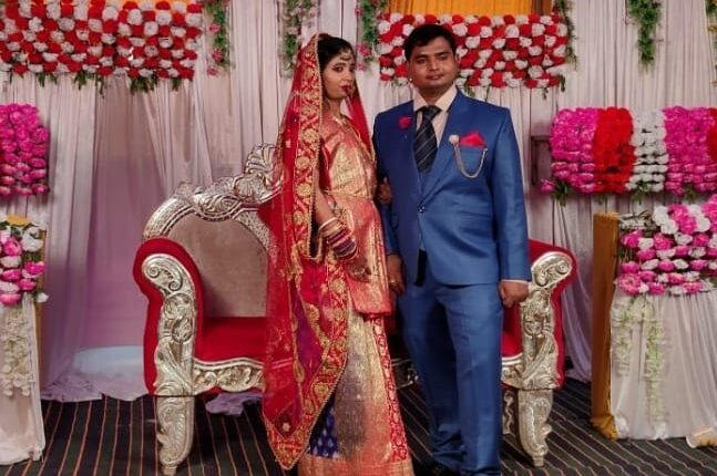 newly wed couple