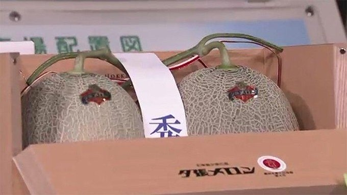 Two coveted Yubari melons auctioned for almost $25,000.