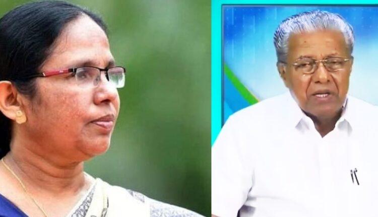 Vijayan mulls Shailaja as Speaker of Kerala Assembly.