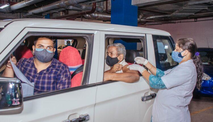 drive-in vaccination centre