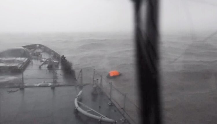 Mumbai: INS Kolkata rescued two survivors from the life-raft of vessel Vara Prabha late Monday, as it proceeded to the Bombay High Fields for rescuing more people in the aftermath of Cyclone Tauktae.