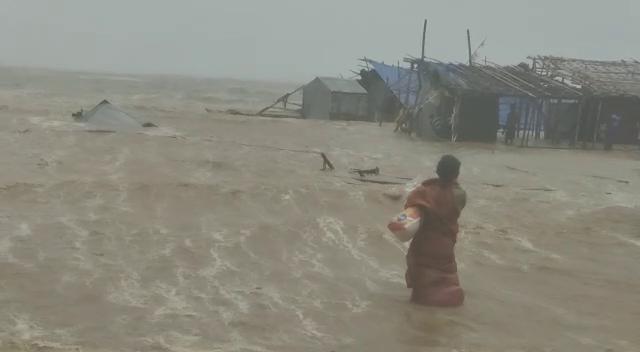 villages affected in high tide